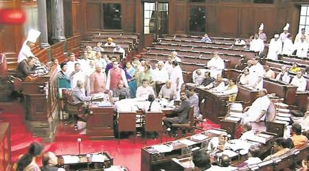 In Rajya Sabha, uproar over Arun Jaitley remarks