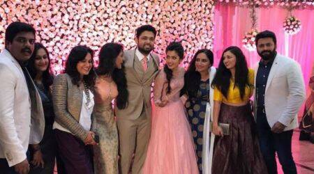 Kirik Party couple Rakshit Shetty and Rashmika Mandanna engaged. See photos