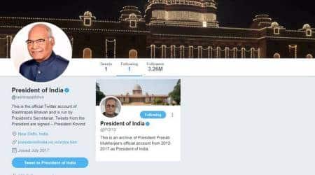 President Ram Nath Kovind takes over @rashtrapatibhvn, Pranab Mukherjee tweets archived@POI13