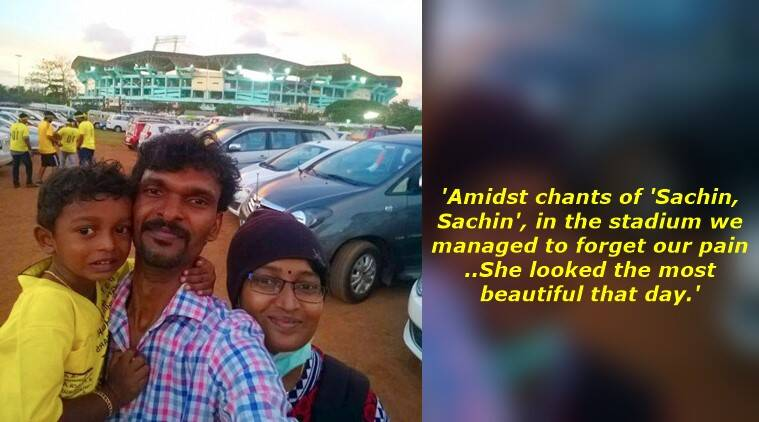husband facebook post on wife's cancer, kerala husband facebook post wife cancer, kerala husband achu cancer story, kerala husband facebook post wife cancer viral, achu cancer patient story, indian express, indian express news