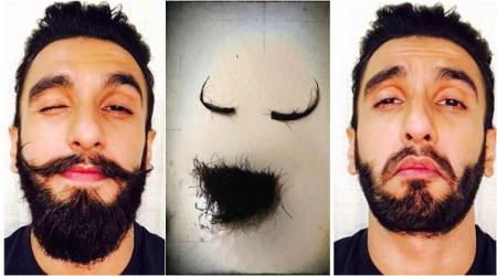 Ranveer Singh is heartbroken over losing his moustache, but feels better as Deepika Padukone might be happy with this look. See photo
