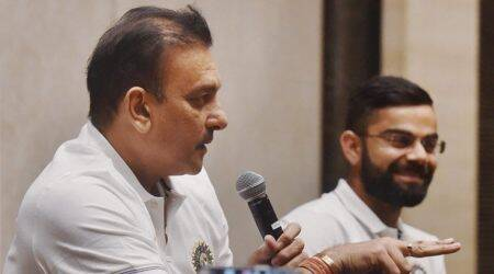 Ravi Shastri 'unites again' with Team India; see pics