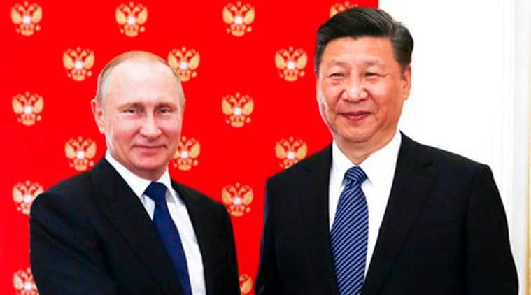Vladimir Putin, Russian President Vladimir Putin, Chinese President Xi Jinping, Russia China Talks, Putin Xi Meeting, Putin Meets Xi, North Korea, North Korea Tension, World News, Latest World News, Indian Express, Indian Express News