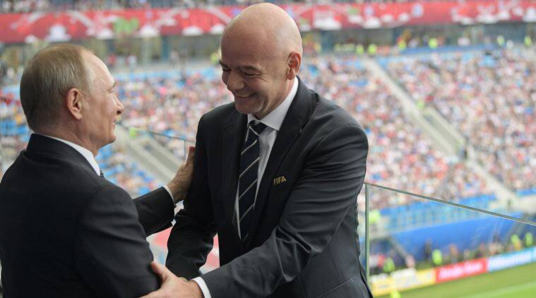 Gianni Infantino, Vladimir Putin, Indian Express