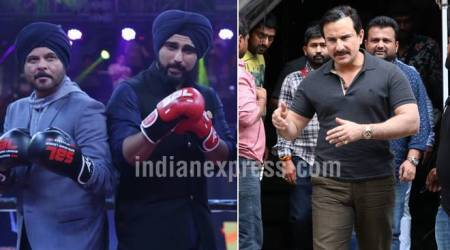 Saif Ali Khan spotted on the sets of his next film Bazaar, team Mubarakan wears boxing gloves and more