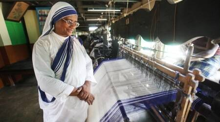 The mother's legacy: The blue-and-white stripe sari of Saint Teresa is now an intellectual property of Missionaries of Charity