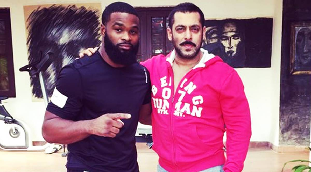 Salman Khan S Sultan Co Star Wrestler Tyron Woodley Proves That Bhaijaan Is Most Popular Watch Video Entertainment News The Indian Express