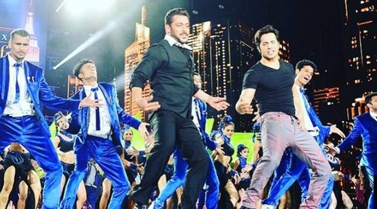 varun dhawan, salman khan, varun salman, varun thanks salman, varun salman IIFA 2017 performance, IIFA 2017 varun, varun dhawan video, salman khan video