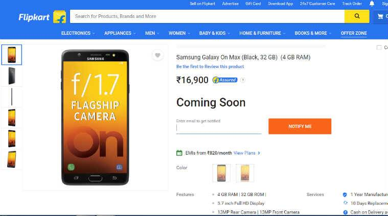 Samsung Galaxy On Max launched in India: Price, features and specifications
