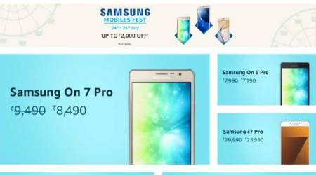 Samsung Mobile Fest on Amazon India: Galaxy C7 Pro at Rs 25,990, discount on Gear S3 and more