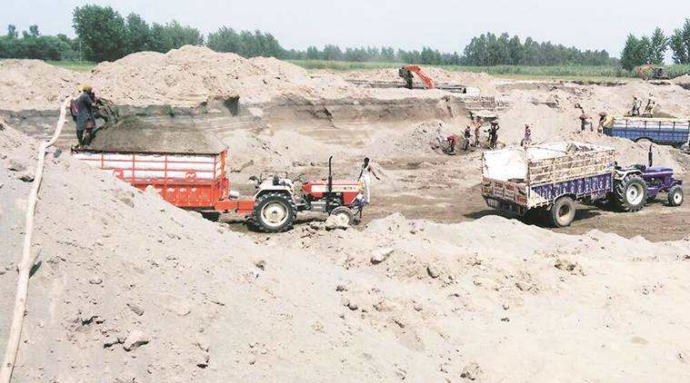 Sand Mine Auction, Sand mind re auction Punjab, Power and Irrigation Minister, Sand Mine pricing punjab, Indian express, India news