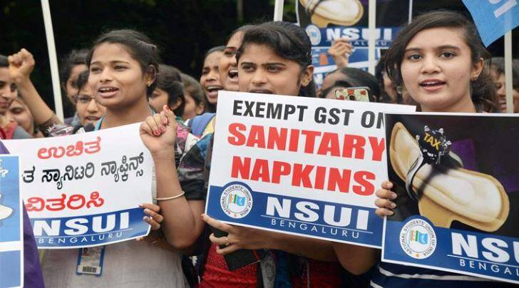 GST, sanitary pads, SFI, gst on pads