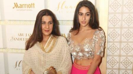 Sara Ali Khan's youthful glam vibe in this Abu Jani and Sandeep Khosla lehenga is refreshing