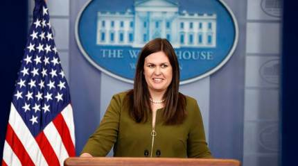 Sarah Sanders steps into role as new face of White House press secretary