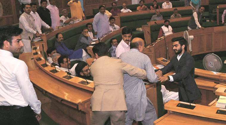 Ruckus in JK assembly over GST; FM moves resolution on 101st amendment