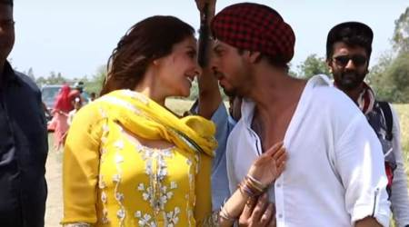 jab harry met sejal, anushka sharma, shah rukh khan, anushka shah rukh, butterfly song making