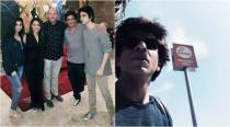 Shah Rukh Khan clicked with Aryan, Suhana in Los Angeles
