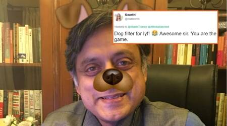After AIB row, Shashi Tharoor, Derek O'Brien take dig at bhakts with Snapchat dog filter challenge