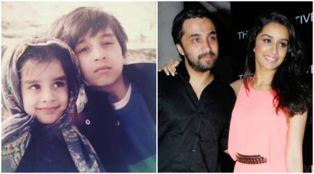 Shraddha kapoor, sidhant kapoor, star kids, bollywood star kids, shraddha kapoor childhood images