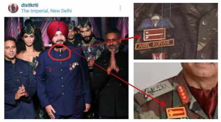 Navjot Singh Sidhu appears wearing Army badges in fashion show, draws ire