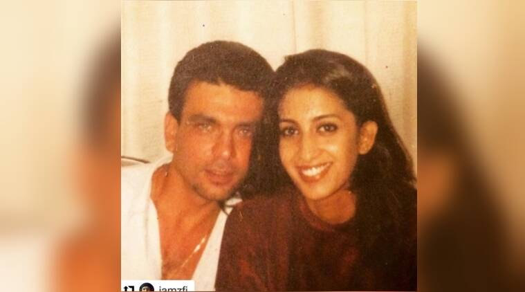 smriti irani, smriti irani instagram, smriti irani instagram post, smriti irani tbt instagra, smriti irani throwback, smriti irani throwback photos with husband, smriti irani instagram funny, indian express, indian express news