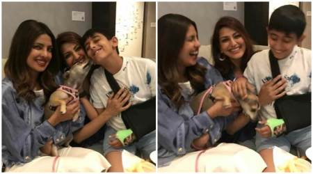 Sonali Bendre is on a New York vacation and playing the perfect host are Priyanka Chopra and her dog. See photos,videos