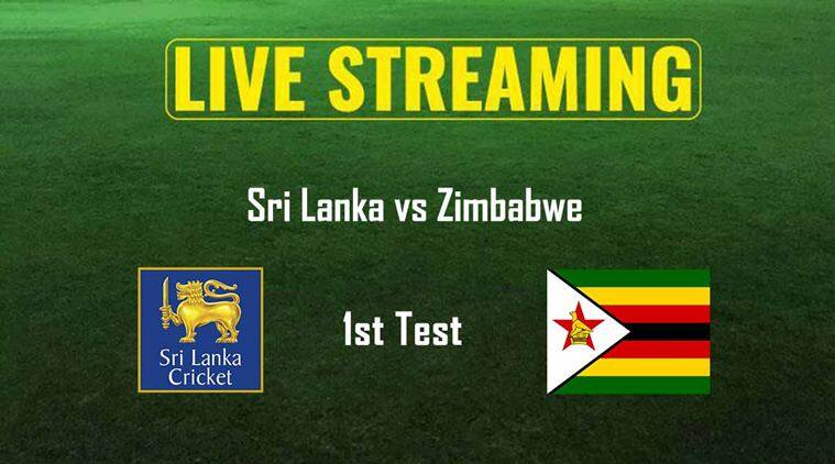 Sri Lanka vs Zimbabwe test, SL vs Zim, Sri Lanka vs Zimbabwe live streaming, Zimbabwe tour of Sri Lanka 2017, Cricket news, Indian Express
