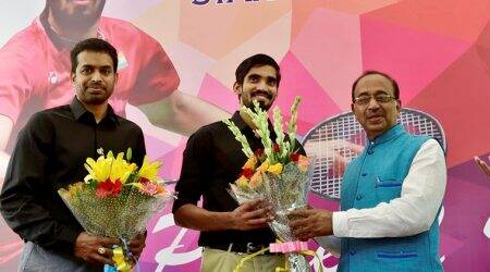 Kidambi Srikanth, Pullela Gopichand felicitated by Sports Minister Vijay Goel