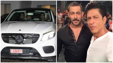 Salman Khan spotted in his new Mercedes. Is it the same car Shah Rukh Khan gifted him for doing Aanand L Rai film? See photos
