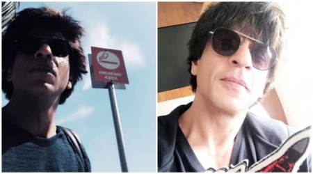Jab Harry Met Sejal star Shah Rukh Khan is on a break from work and smoking. See his latestphoto