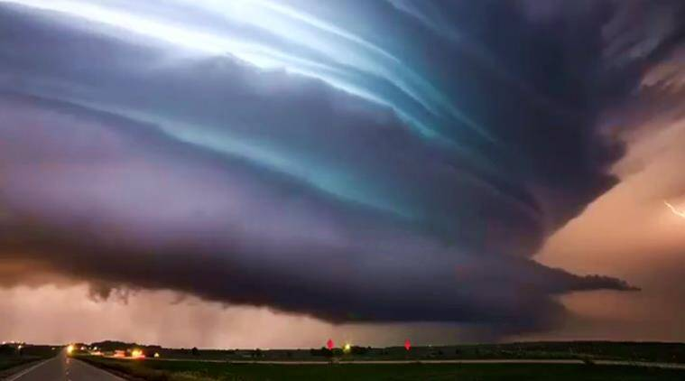 storm, stormy sky, worlds most beautiful storm, storm usa, storm united states, scene from outer space, indian express, indian express news