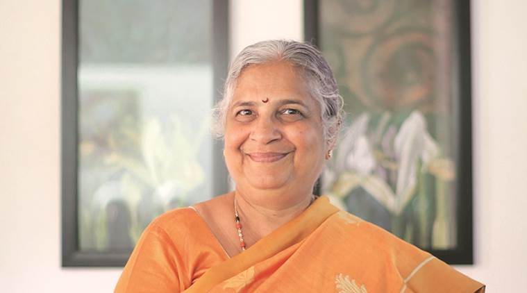 sudha murty, infosys, infosys founder wife, three thousand stitches, sudha murthy book, indian express