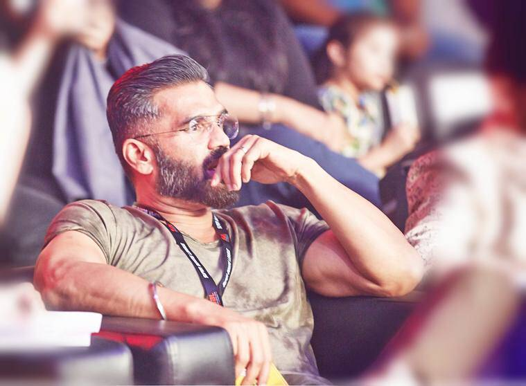 suniel shetty, suniel shetty kids, ahan shetty, athiya shetty, suniel shetty on nepotism, suniel shetty television show, suniel shetty films,  A gentleman, suniel shetty super boxing league, suniel shetty films, suniel shetty businessman
