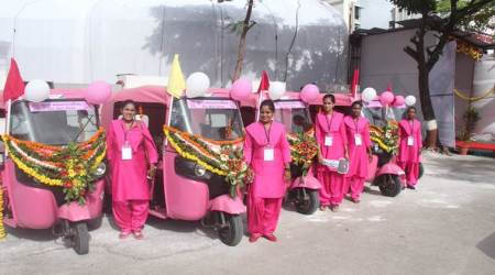 In Surat now: A pink auto service by women, for women