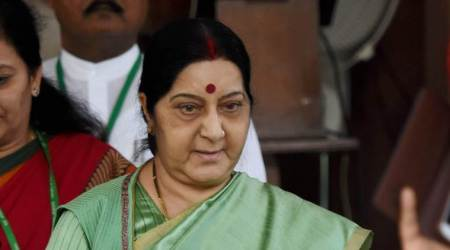 Congress politicising abducted Indians issue, says Sushma Swaraj