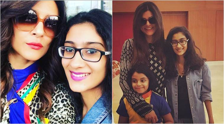 Image result for Sushmita Sen With Her Daughters