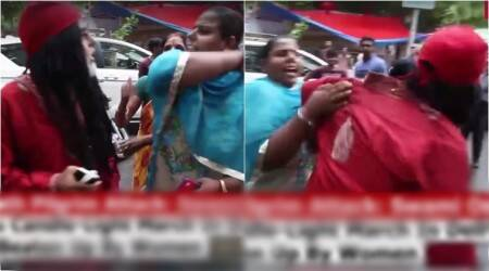 WATCH: Swami Om gets thrashed by women at Delhi's Amarnath terror attack protest