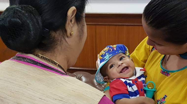 'Rohaan – keep smiling': Sushma Swaraj meets Pakistani infant who underwent surgery at Noida hospital
