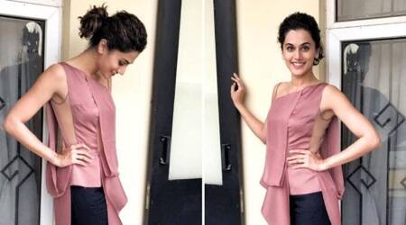 Taapsee Pannu was seen in the most unusual top and we bet you won't be able to look away