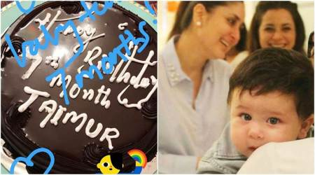 Taimur Ali Khan turns seven months old, maasi Karisma Kapoor is celebrating it with a chocolate cake, see photo