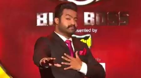 Jr NTR celebrates son Abhay Ram's birthday on Bigg Boss Telugu sets, see photos