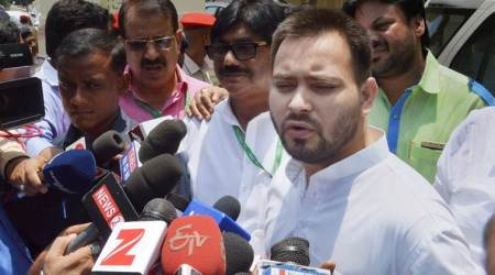 Bihar CM Nitish Kumar speaks to Tejashwi Yadav on sidelines of Cabinet meet
