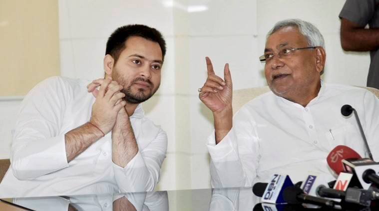 Nitish Kumar, JD(U), Grand Alliance, Lalu Prasad Yadav, Tejashwi Yadav resignation, tejashwi corruption case, bihar coalition government, india news, indian express