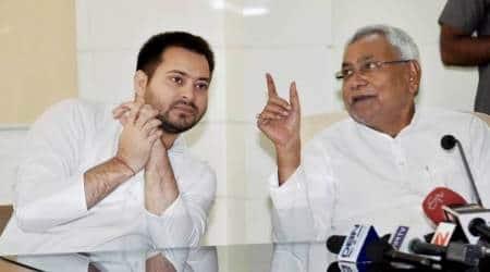 Nitish Kumar, Bihar Grand Alliance, RJD, JD(U), Bihar Deputy Chief Minister Tejashwi Yadav, India News, Indian Express, Indian Express News