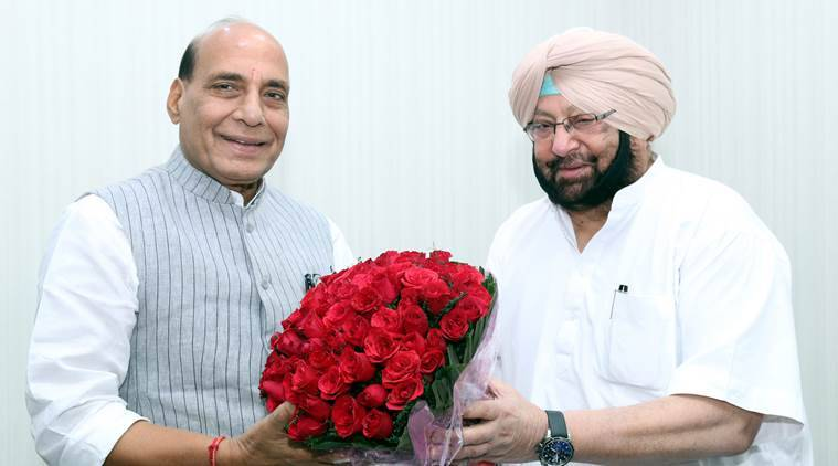 SYL row, Captain amarinder Singh, Rajnath singh, SYL canal issue, Indian express, india news, latest news,