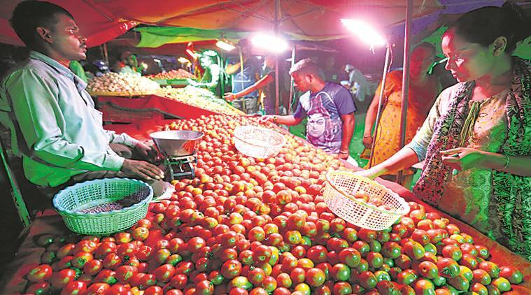 Tomato prices rise in Chandigarh, Tomato prices in Chandigarh, Chandigarh Tomato Prices, Chandigarh news, Indian Express news