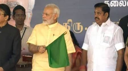 PM Modi flags off Ayodhya-Rameswaram express train