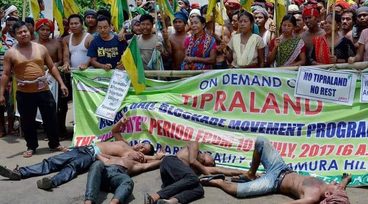 Tripura blockade, IPFT, Tipraland, Tripura protests