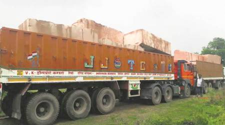 Stones from Rajasthan arrive for Ram temple inAyodhya