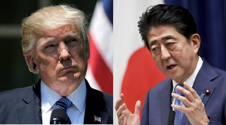 Shinzo Abe, Donald Trump, North Korea, Japan, kim jong un, North Korea nuclear weapons, world news, indian express news